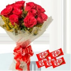 Sweetest Love - Red Roses And Chocolates