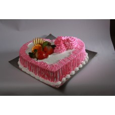 Pinnaple Heart Shape Cake